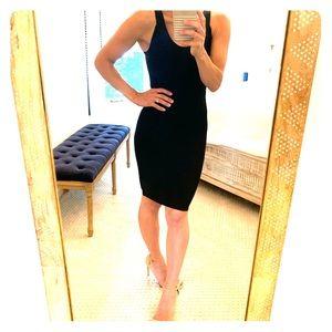 BCBG skin tight little black dress